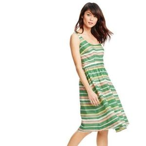 Boden Hattie WH827 Striped Sun Dress 14 Long